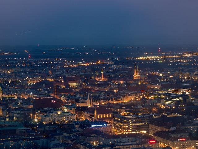 Wrocław - panoram nocą